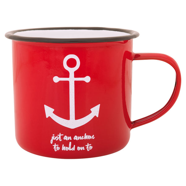 Batela Giftware-Mugs-Anchor Enamel Mugs (Set of 6)