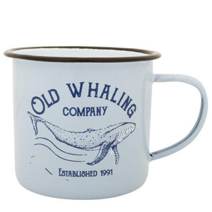 Batela Giftware-Mugs-Old Whaling Company Enamel Mugs (Set of 6)