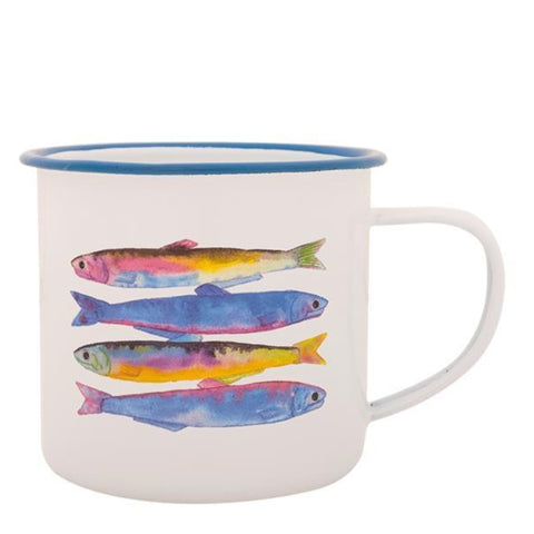Batela Giftware-Mugs-Sardines Enamel Mugs (Set of 6)