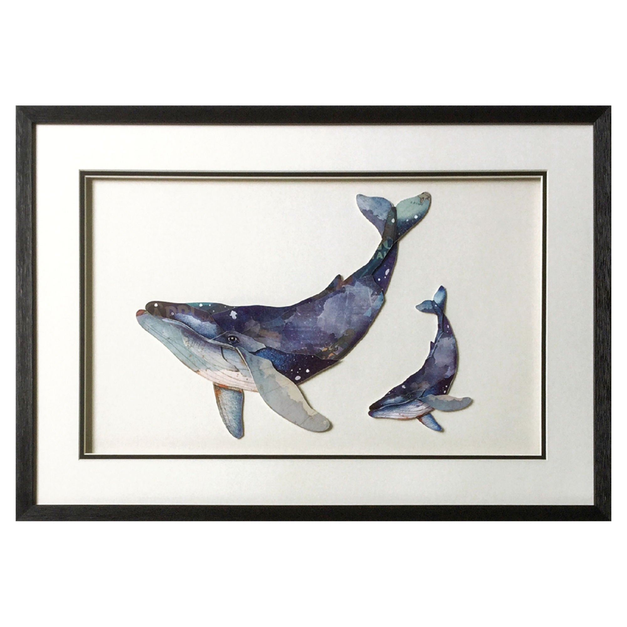 Framed Picture of Whales