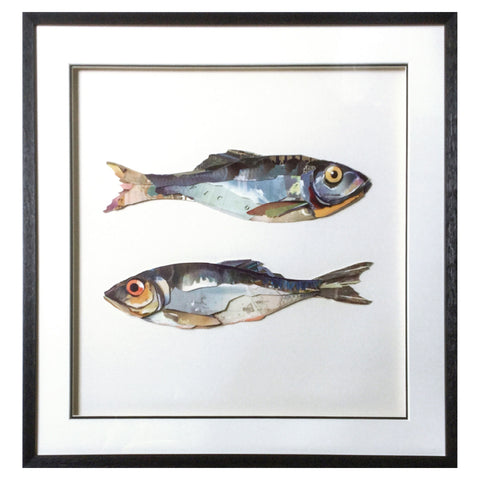 Framed Collage Picture of Pair of Sardines