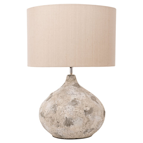 Table Lamp with Sea Rock Cement Base