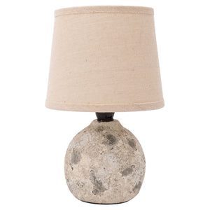 Small Table Lamp with Sea Rock Cement Base
