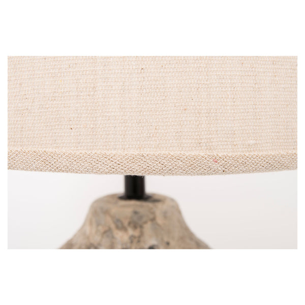 Tall Table Lamp with Sea Rock Cement Base