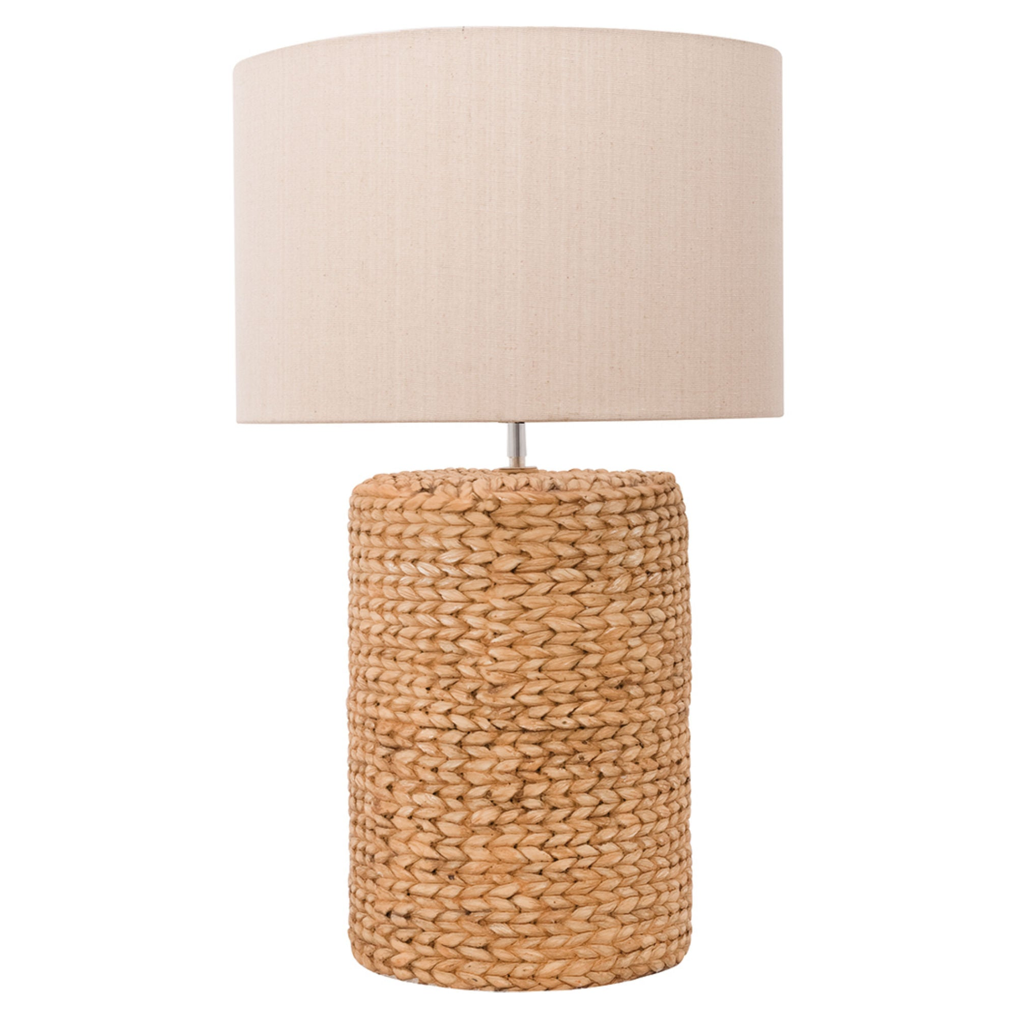 Batela Giftware-Lamp-Large Glass Table Lamp with Rope Finish