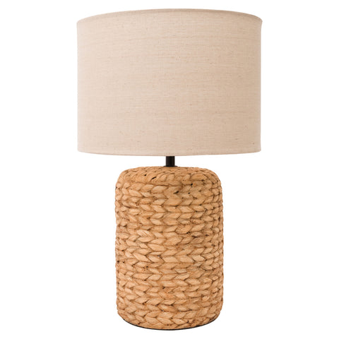 Glass Table Lamp with Rope Finish
