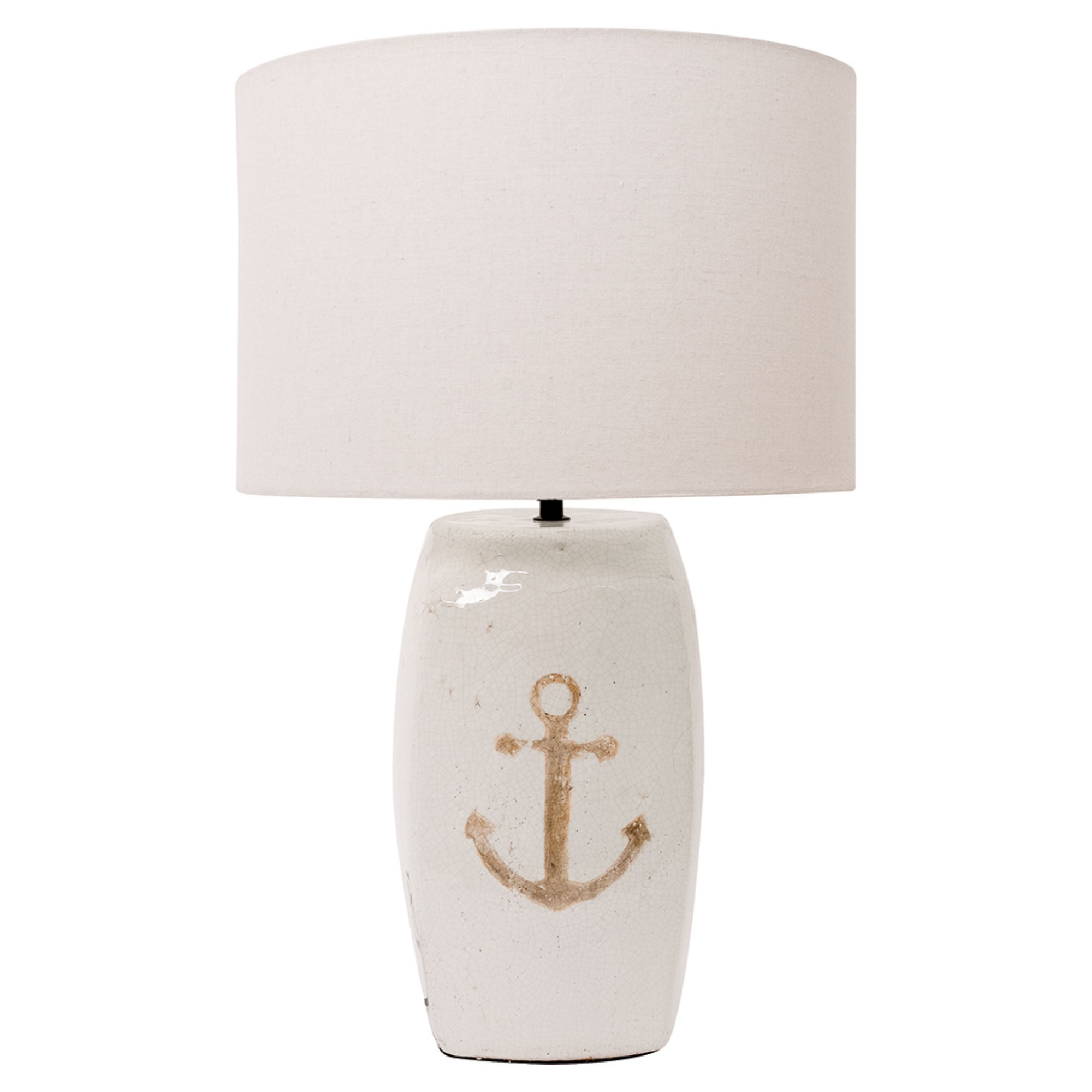 Batela Giftware-Lamp-Anchor Table Lamp with Glazed Cement Base