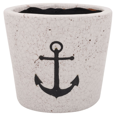 Batela Giftware-Cement-Flowerpot with Anchor Design
