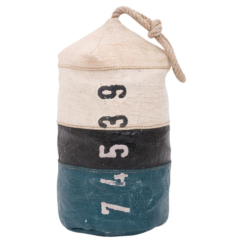 Batela Giftware-Nautical Office Decoration-Canvas Float Style Doorstop - Blue/White