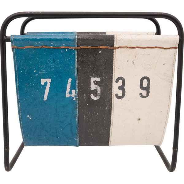 Canvas Float Style Magazine Rack - Blue/White