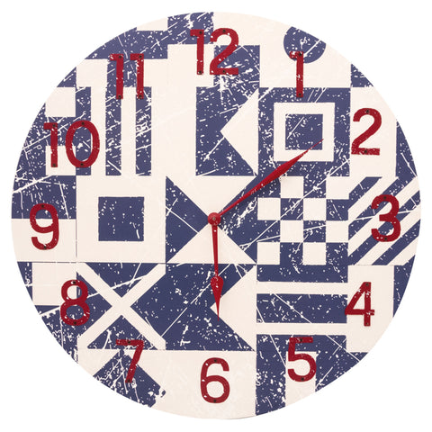 Large Flag Design Clock