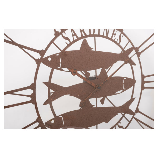 Batela Giftware-Clock-Large Wall Clock - Sardines Design