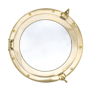 Batela Giftware-Nautical Office Decoration-Brass Porthole Mirror, Large