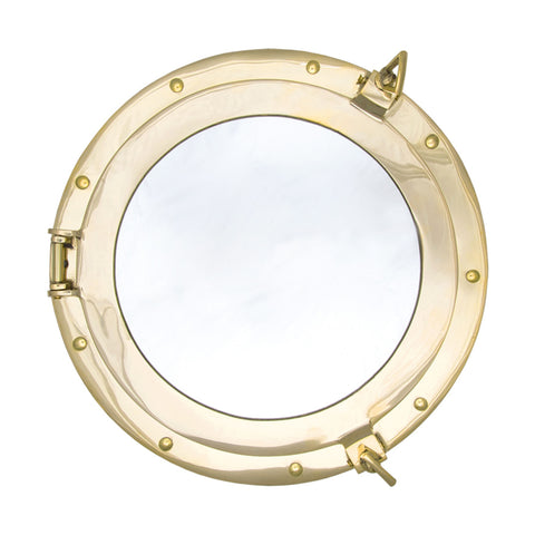 Brass Porthole Mirror, Large