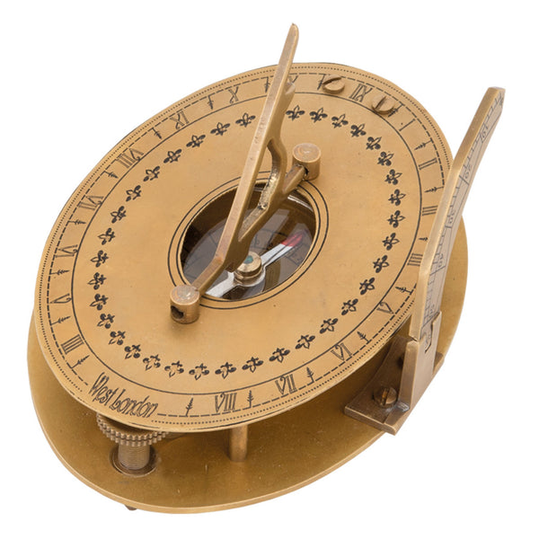 Batela Giftware-Nautical Office Decoration-Brass Sundial, with Compass