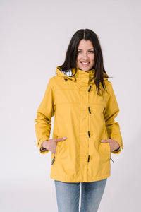 Sailor Style Raincoat - Yellow