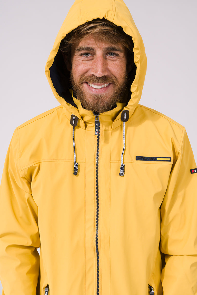 Showerproof Lightweight Raincoat - Yellow