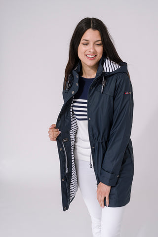 Nautical Raincoat - Navy