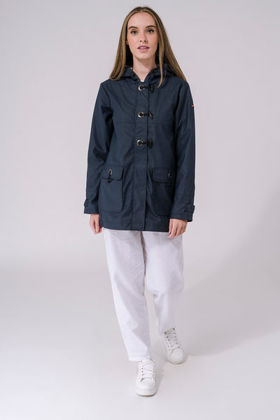 Waterproof Lightweight Raincoat - Navy
