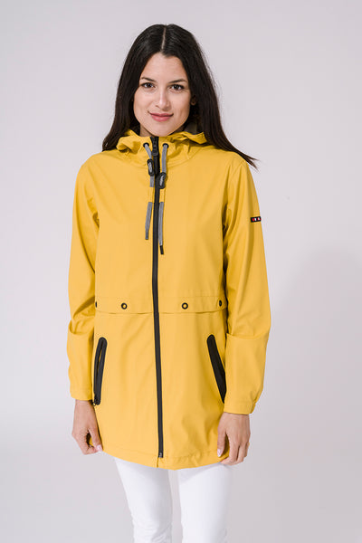 Waterproof Lightweight Raincoat - Yellow