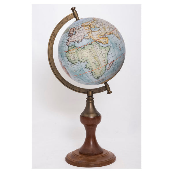 Globe with Brass Stand Sea Blue