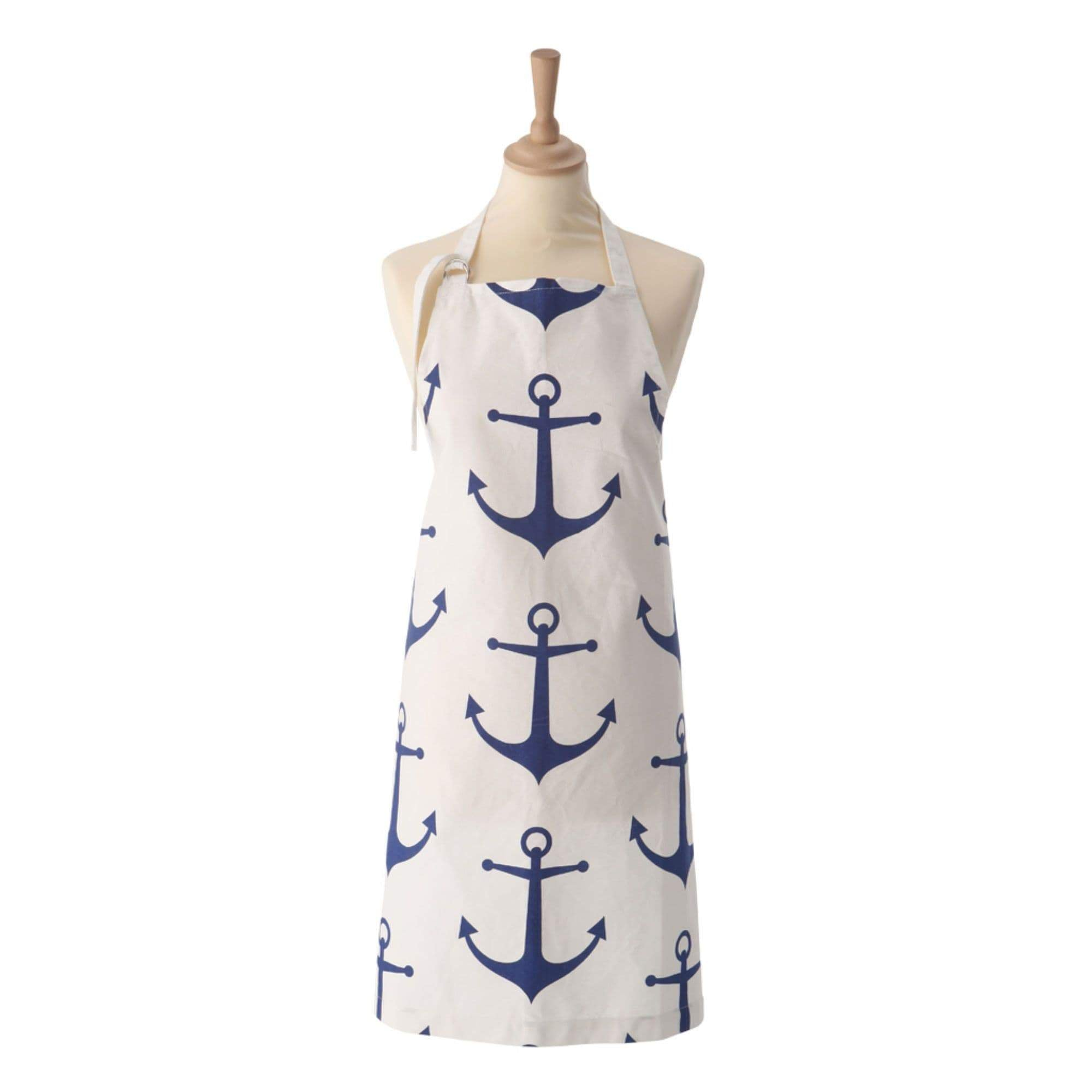 Batela Giftware-Apron-Apron - Blue And White Anchor