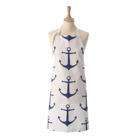 Batela Giftware Apron Apron - Blue And White Anchor