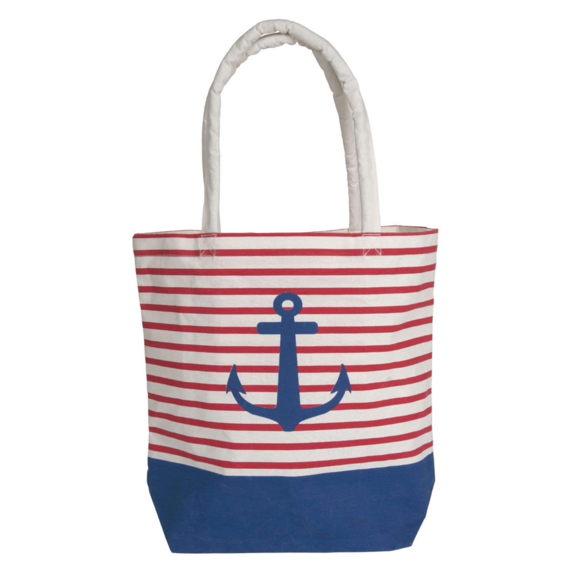 Batela Giftware-Bags-Bag - Blue And Red Striped Anchor