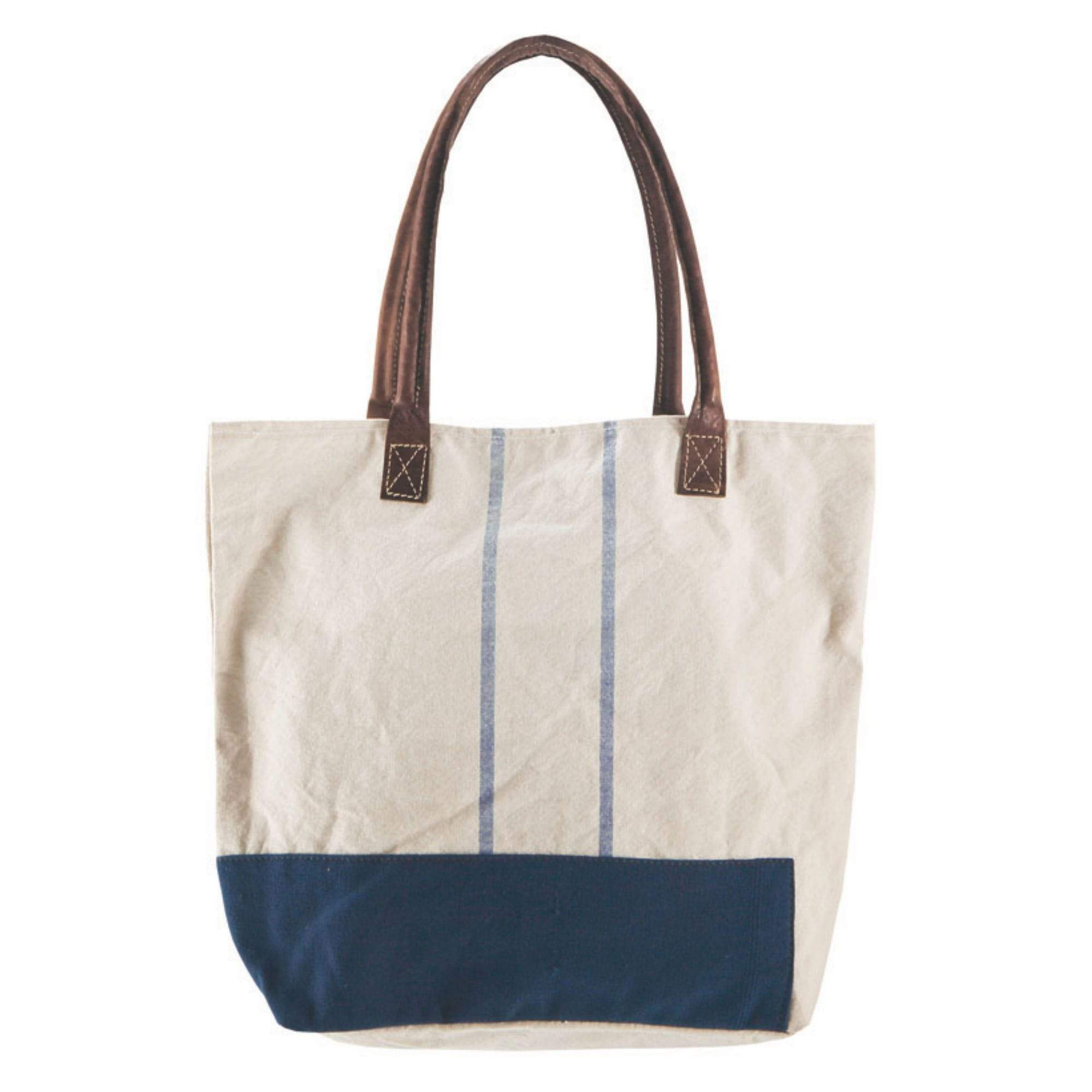Batela Giftware-Bags-Navy and White Bag