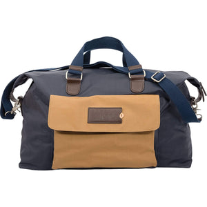 Batela Giftware-Bags-Showerproof Weekend Bag in Blue and Tan