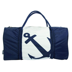 Batela Giftware-Bags-Gym Bag - Navy Blue And White