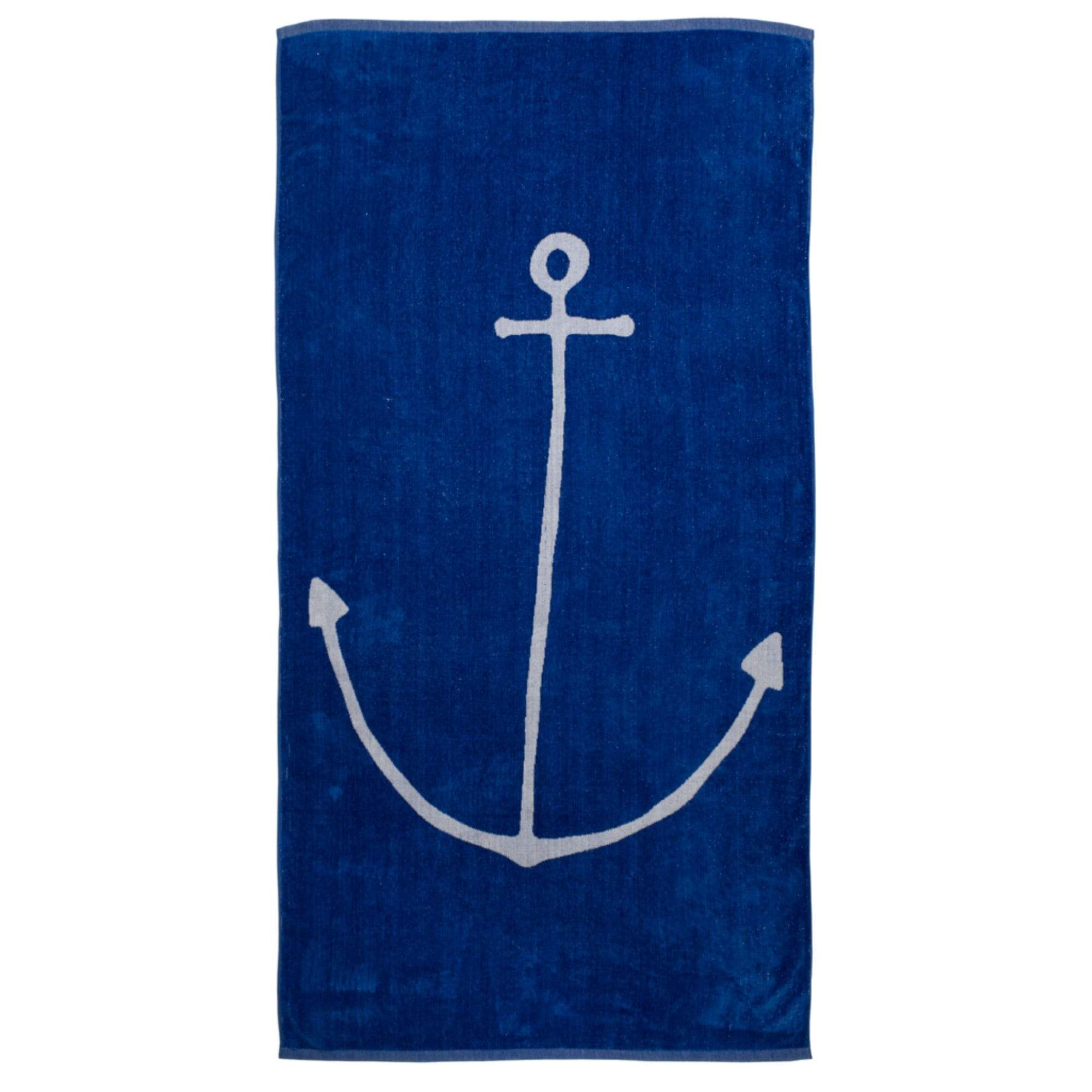 Batela Giftware Bathroom Anchor Beach/Bath Towel (x2)