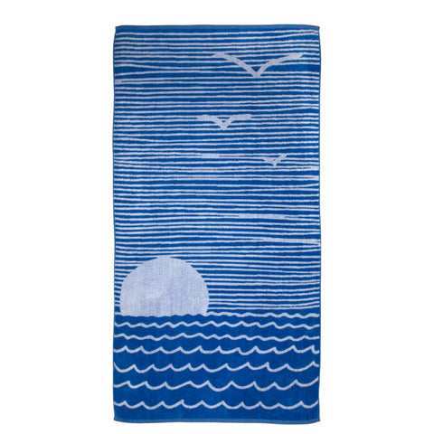 Batela Giftware Bathroom Default Seascape Beach/Bath Towels (x2)