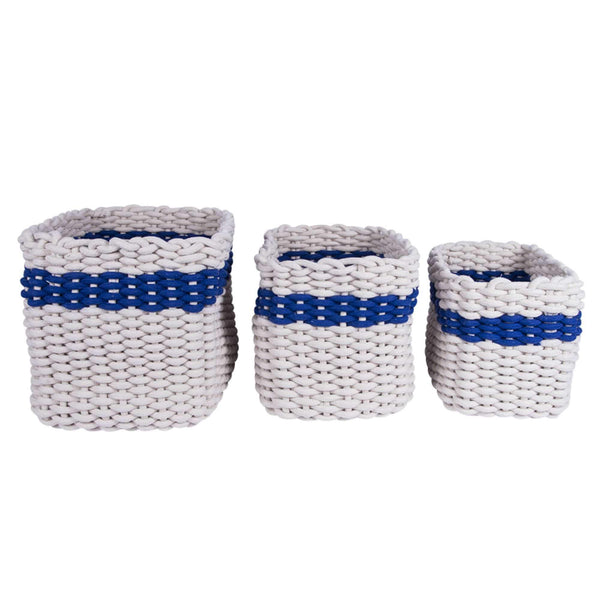 Batela Giftware-Bathroom-Rope Baskets (Set of 3)