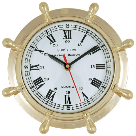 Batela Giftware-Clock-Ship's Wheel Wall Clock