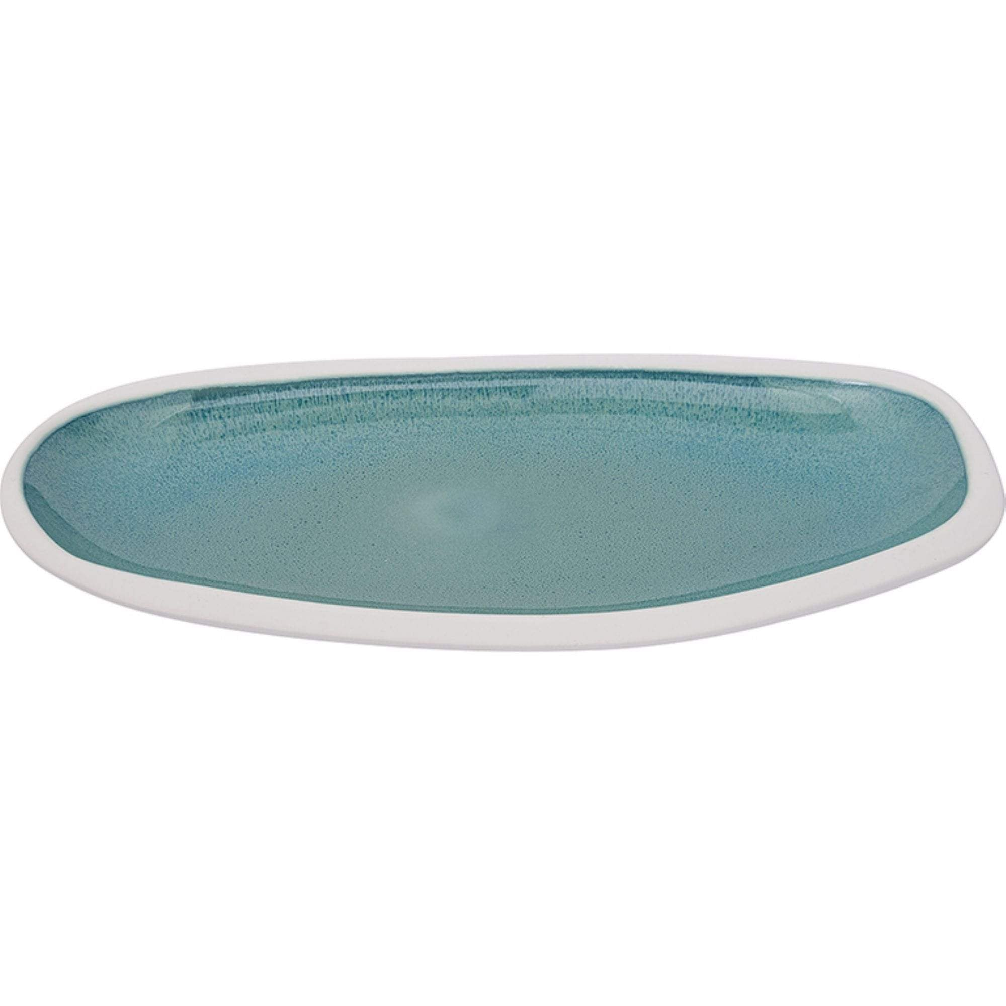 Batela Giftware-Crockery-Large Aquamarine Serving Platter