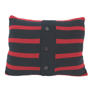 Batela Giftware Cushions Navy & Red Striped Cushion