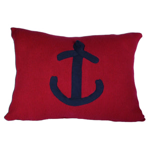 Batela Giftware Cushions Red with Navy Anchor Cushion