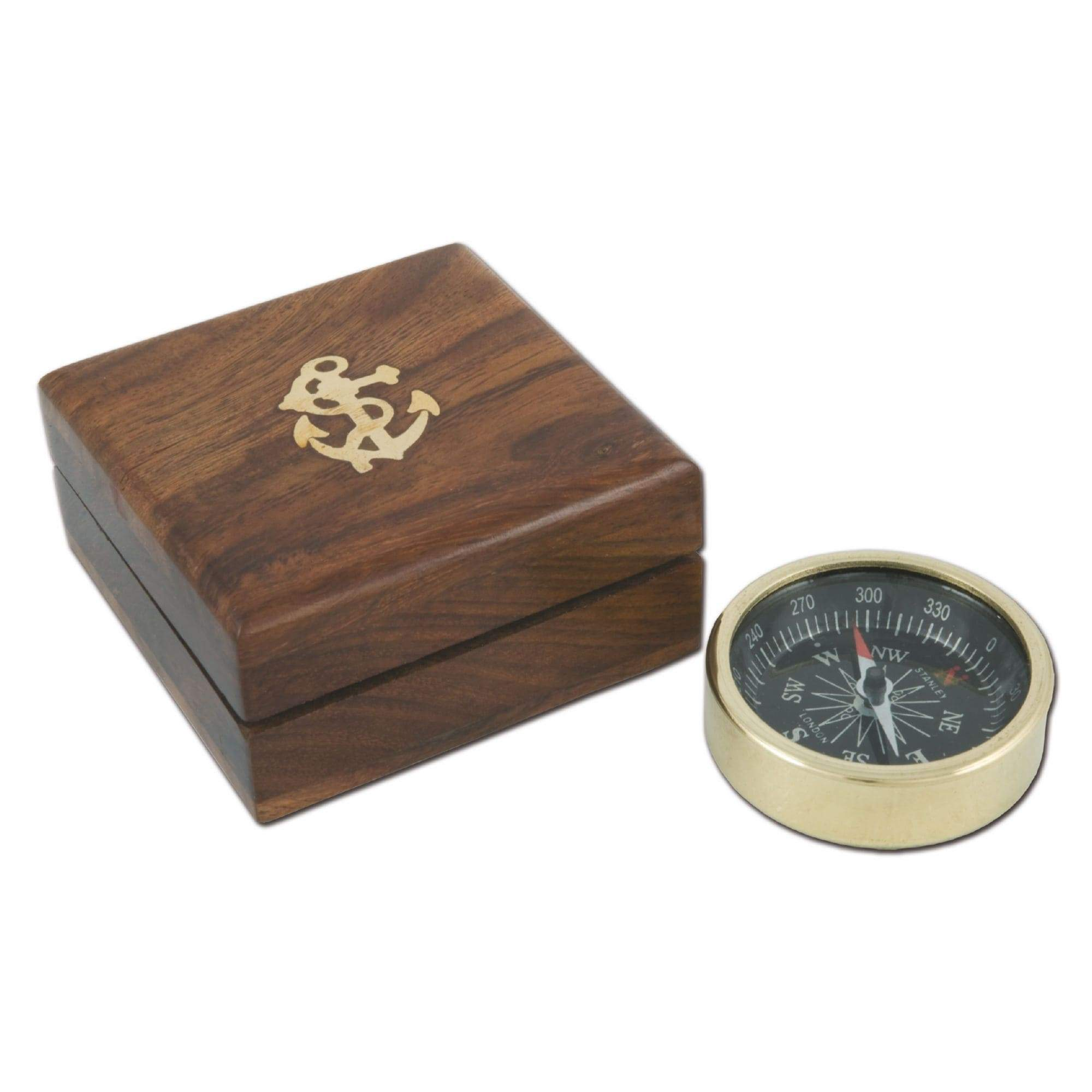 Batela Giftware-Desktop-Compass with Wooden Box