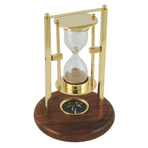 Batela Giftware-Desktop-Hourglass With Compass Base