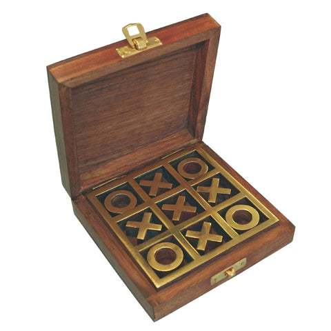 Batela Giftware Desktop Noughts and Crosses with Wooden Box