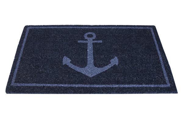 Batela Giftware-Doormats-Blue Anchor Doormat