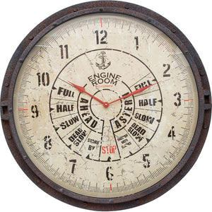 Batela Giftware-Clock-Engine Room Large Wall Clock