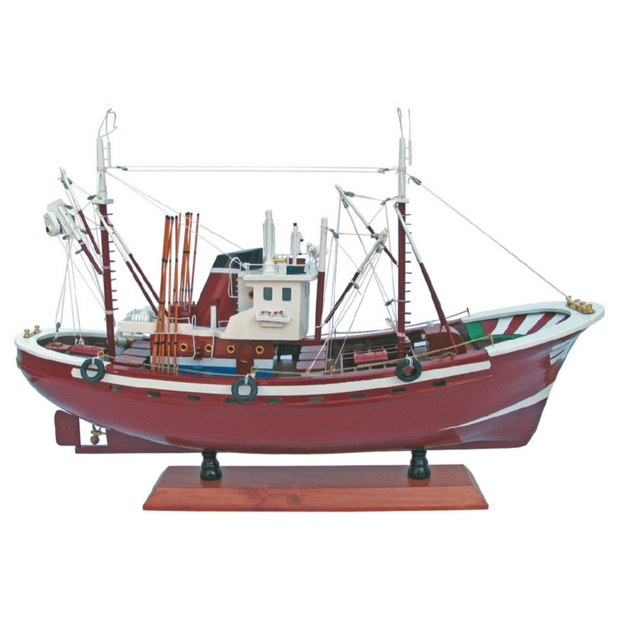 Batela Giftware-Fishing Boats-Large Tuna Fishing Boat in Red - Model Boat