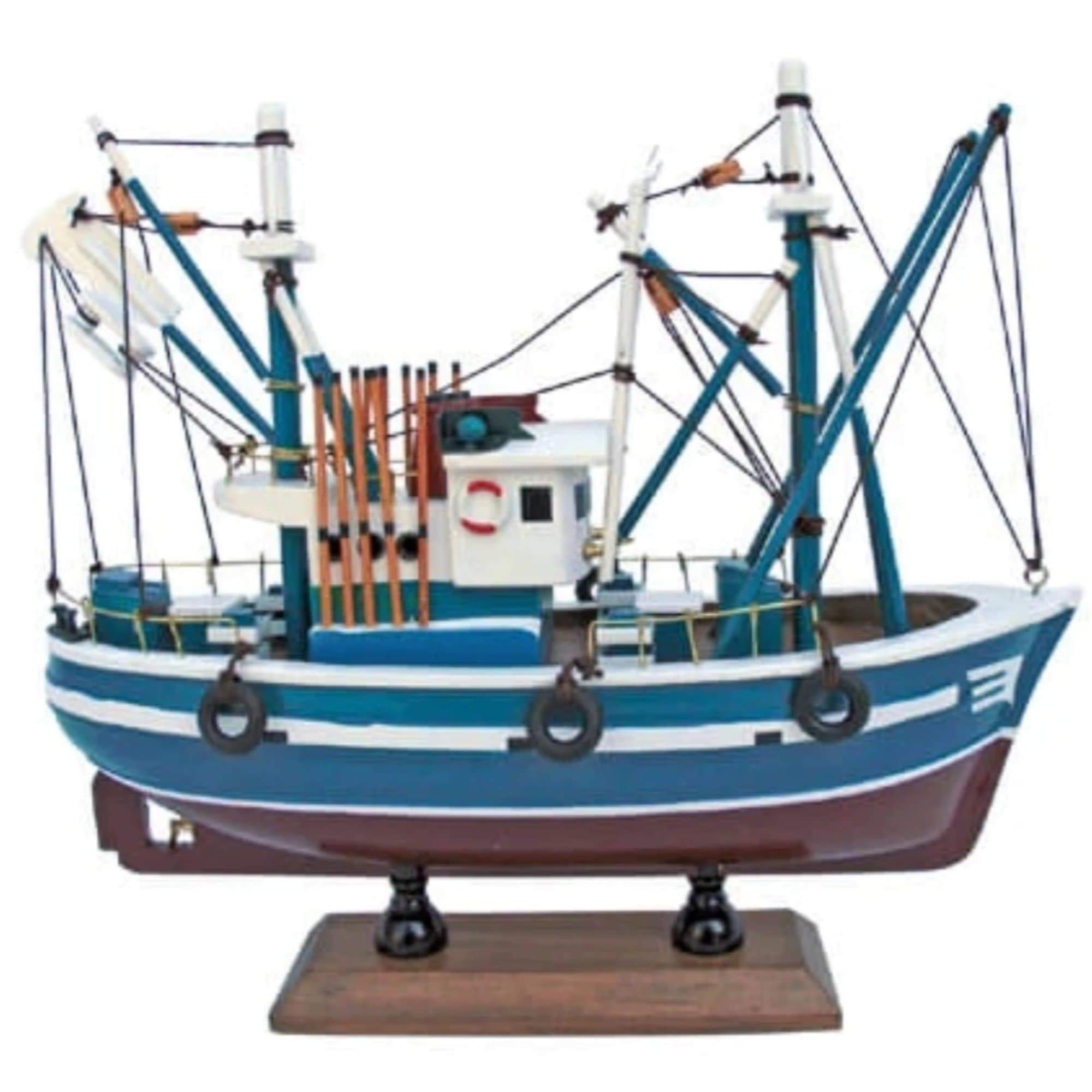 Batela Giftware-Fishing Boats-Model Fishing Boat VIII - Blue - Model Boat