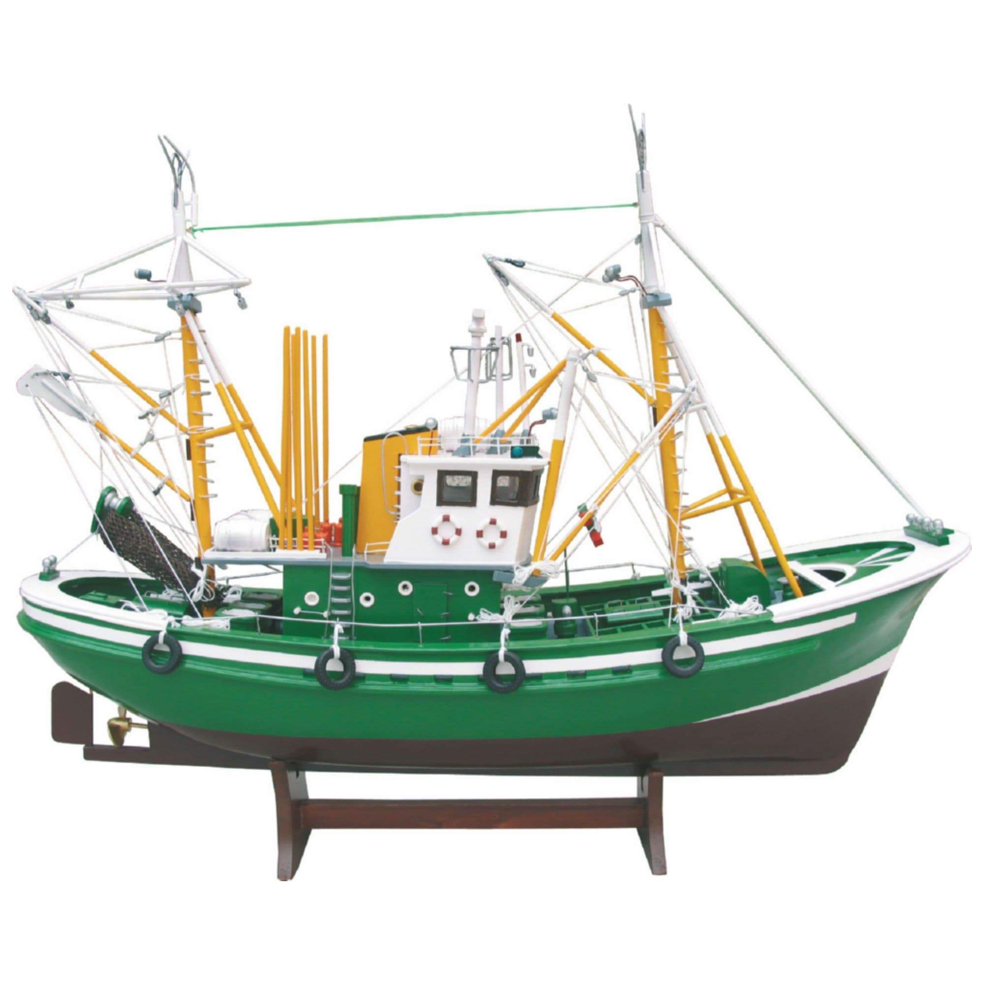 Batela Giftware-Fishing Boats-Tuna Fishing Boat II - Model Boat in Green