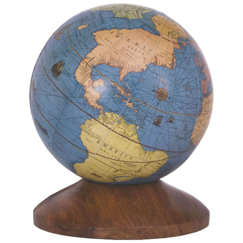 Batela Giftware Globes Globe with Wooden Stand Sea Blue