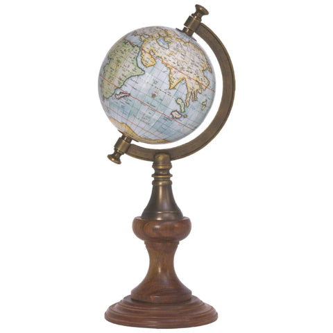 Batela Giftware-Globes-Globe with Brass Stand Sky Blue