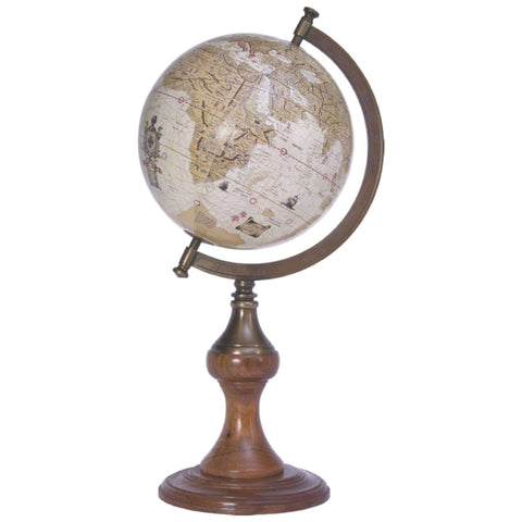 Batela Giftware-Globes-Globe with Brass Stand, Earth