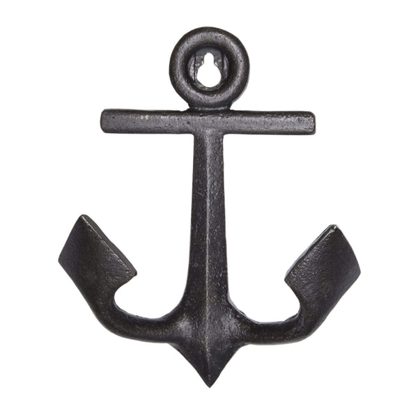 Batela Giftware-Coat Racks & Hooks-Anchor Coat Hook - Black